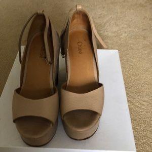 540e30d2b2f Chloe tan platform sandals